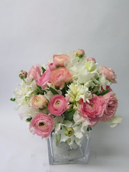 Cream and Pinks flower bouquet