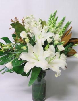Whites flower bouquet