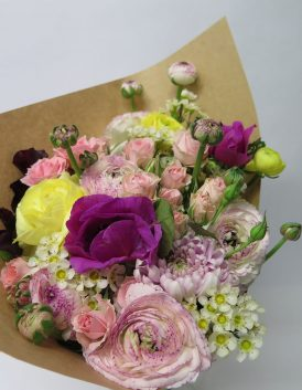 soft and pretty posy